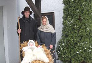 Darstellung der Heiligen Familie.